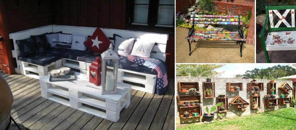 Arredare il giardino con materiale riciclato: 5 consigli per renderlo unico