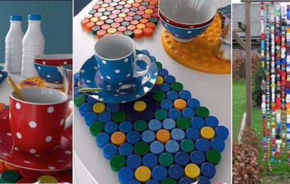 Riciclare tappi di plastica: 20 idee per riusare i tappi delle bottiglie