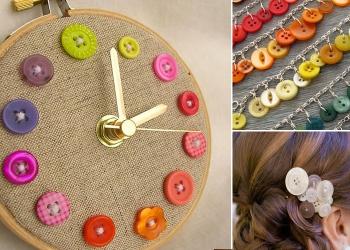 Riciclare bottoni: 28 idee creative per docorazioni fai da te