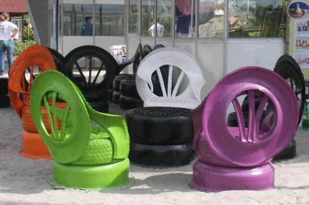 Riciclo pneumatici idee creative per riusare vecchi copertoni