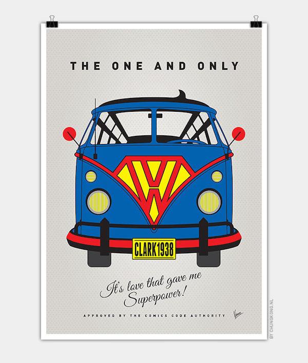 I Camioncini Volkswagen vestiti da supereroi