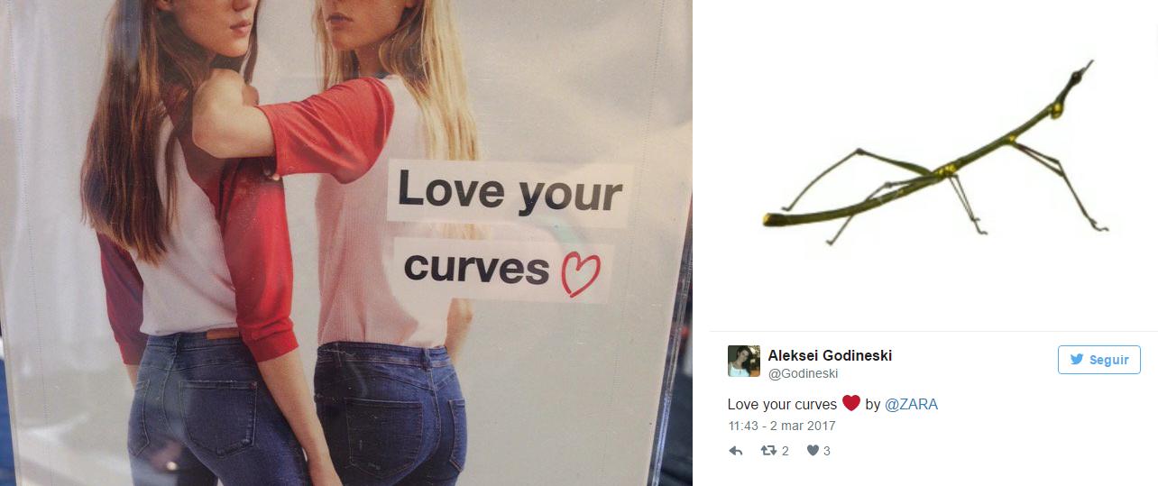 """Zara lancia """"Love your curves"""" con modelle magre e scatena la polemica"""