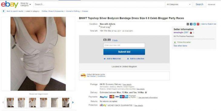 Una donna riceve messaggi osceni a causa delle foto di vestiti in vendita su eBay