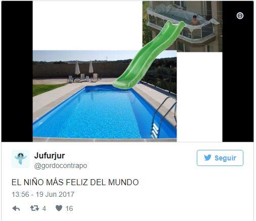 Una piscina improvvisata sul balcone provoca tanti meme e calcoli improbabili