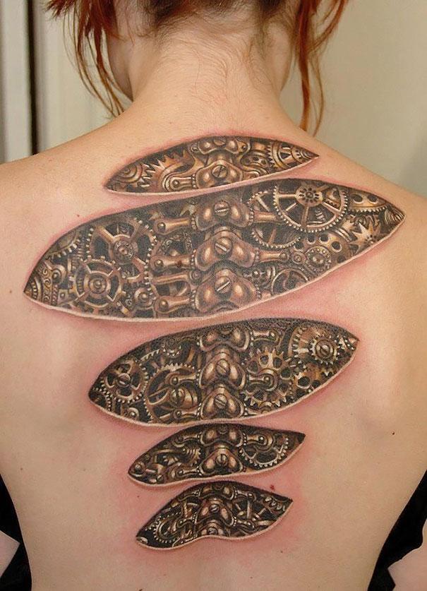Tatuaggi 3D, le foto dei più belli e realistici