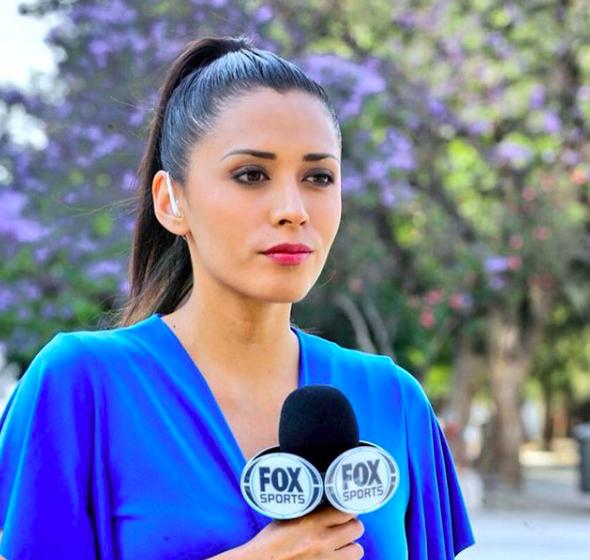 Giornalista sportiva reagisce con una microfonata in faccia al tifoso molesto