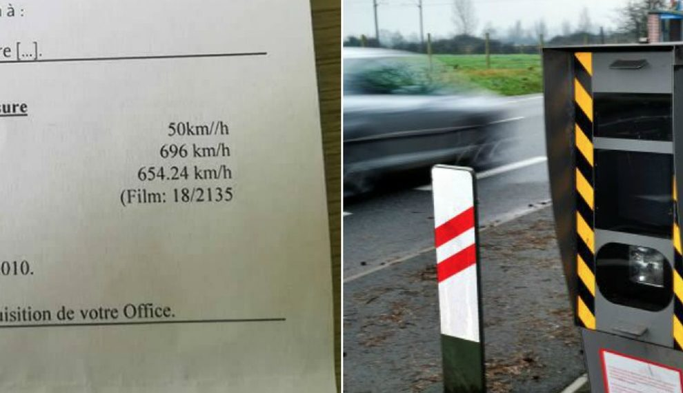 "Riceve una multa per eccesso di velocità a 696km/h, lui risponde: ""Ma ho una opel astra"""