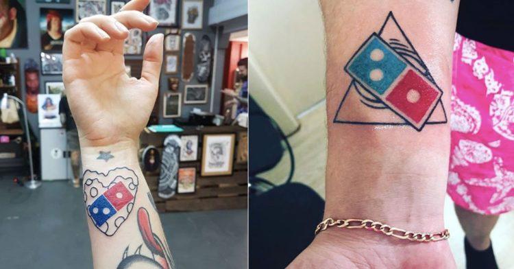 Ecco perché tutti quanti si stanno facendo tatuare il logo della pizzeria Domino's