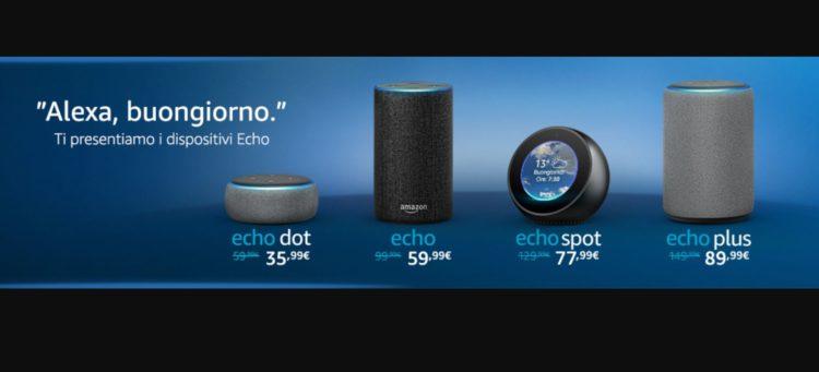 Amazon Alexa arriva in italia