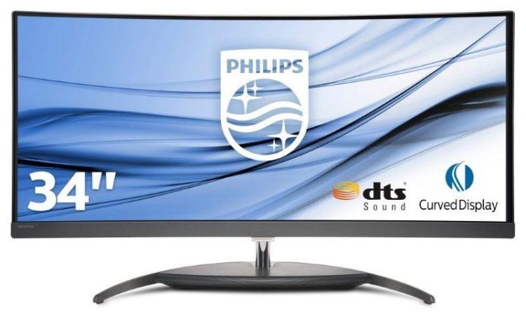 "Philips Monitor 349X7FJEW Monitor Gaming Curvo 34"" 21:9, QHD UltraWide 3440 x 1440"