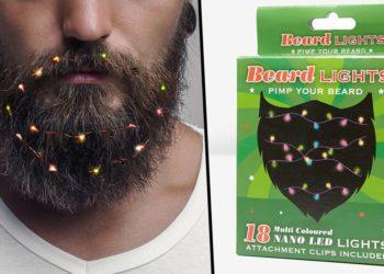 Luci di natale per la barba